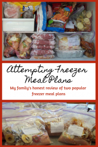 Attempting Freezer Meal Plans: My family's honest review of two popular freezer meal plans
