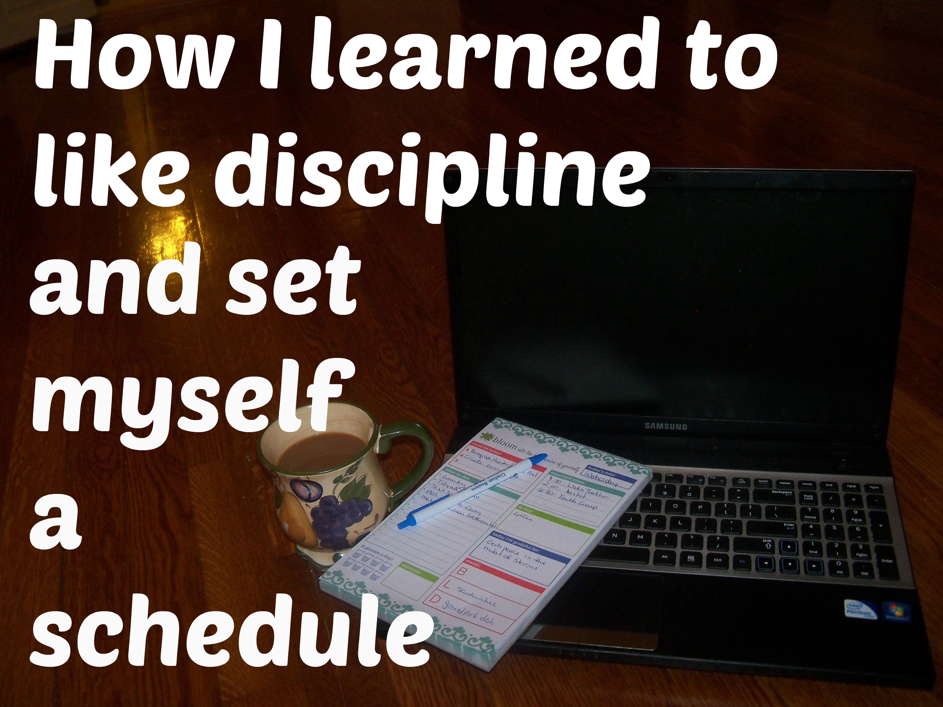 How I learned to like discipline and set myself a schedule