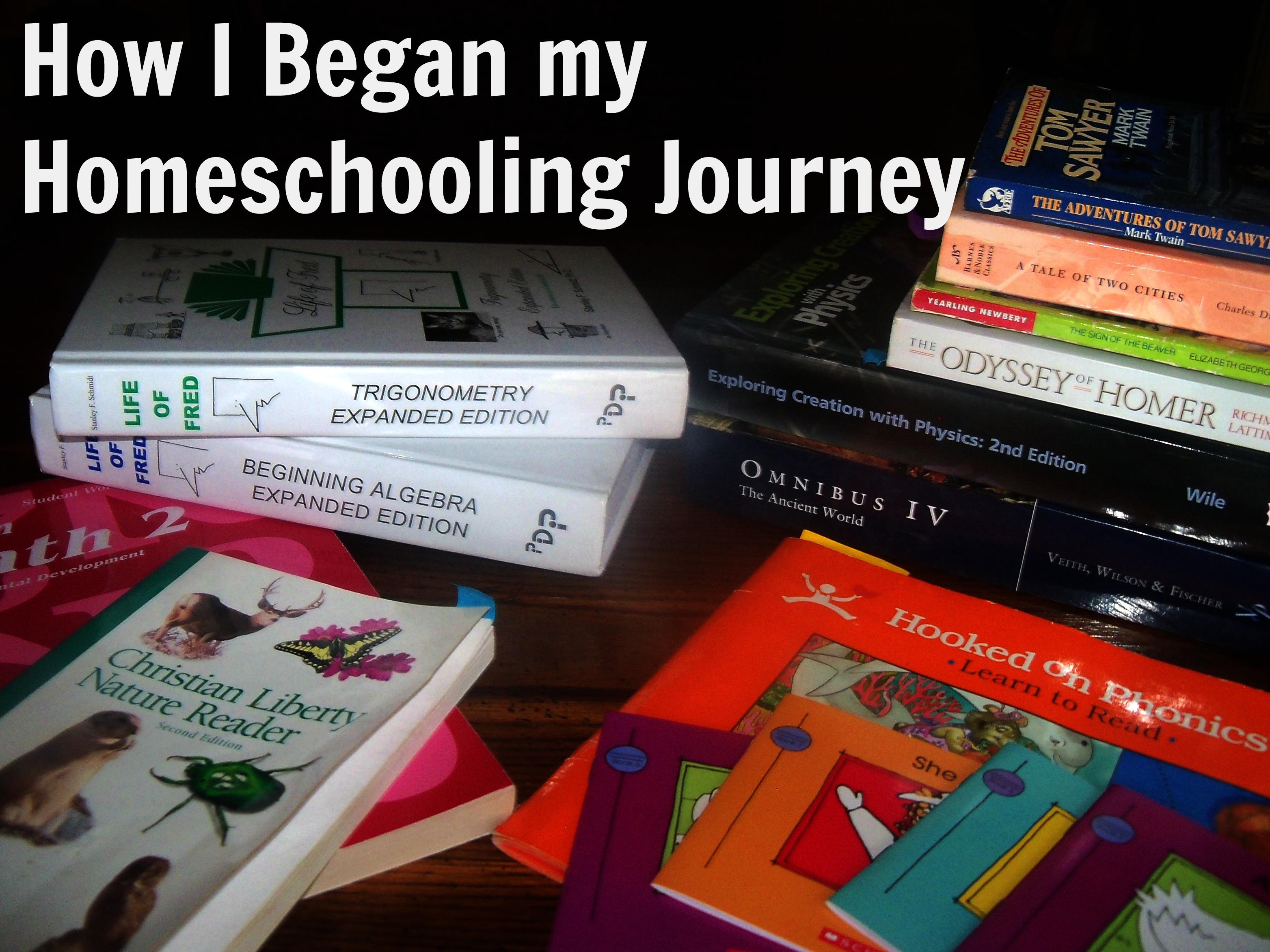 How I began my homeschooling journey