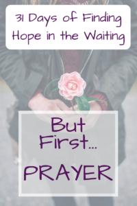 But first...Prayer