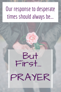 King Jehosophat's initial response to terrible news was to turn to God in prayer. Ours should be too. Here is a model of what our prayer should be.