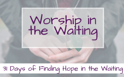 Worship in the Waiting {Finding Hope in the Waiting}