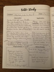 SOAP method bible study journal