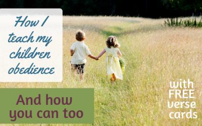 How I teach my children obedience