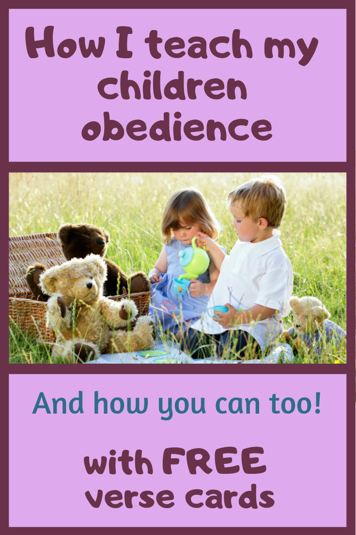 How I teach my children obedience. Obedience is an important concept that all children have to learn. As we raise them by the standard of the Word of God we can bring up young people who know right from wrong.