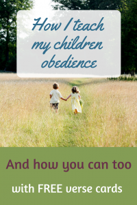 How I teach my children obedience