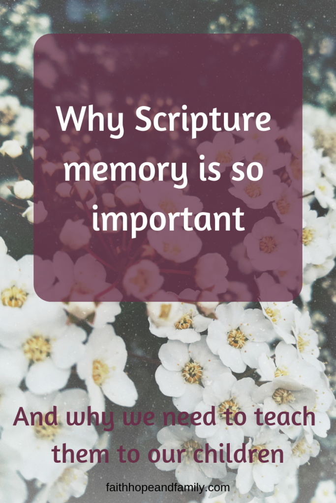 "Teaching children scripture memory can be a guide to parents by giving the ""why"" answer to expectations and preparing them for victory against temptation."