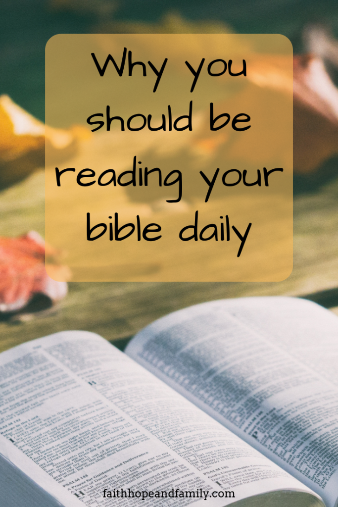In order to grow in Christ, bear fruit, or do anything good, we must read the bible consistently.  We cannot do anything for God in our own strength  we must be leaning on His power and His power comes through the written word of God.